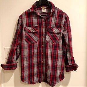 Vintage CARHARTT Heavy Flannel Plaid Work Shirt